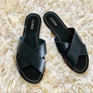 Black leather Jcrew sandals